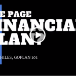 One Page Financial Plan